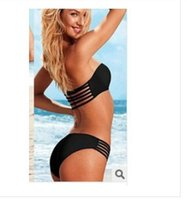Wholesale 2014 Hot NWT Sexy Women s Bikini Hollow out Design beachwear Stylish Lady Solid Color Swimwear
