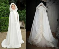 black hooded cloak - Luxury Perfect High Quality New Winter Bridal Cape Faux Fur Wedding Cloaks Hooded Perfect For Winter Wedding Bridal Cloaks