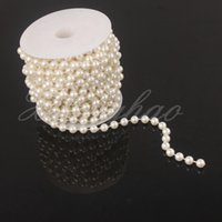 Wholesale 10m mm IVORY PEARL BEAD GARLAND CAKES Wedding Decoration DIY Strand Decoration New