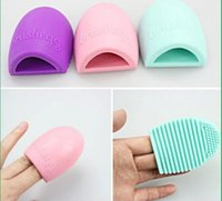 Wholesale 2015 New Arrival Hot Brush Cleaner Brush Pro Cleaning Makeup Washing Brush Silicone Scrubber Board Cosmetic Clean Tools