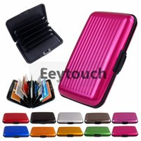 Wholesale Aluminium Credit card wallet cases colors available card holder bank card case aluminum wallets FEDEX
