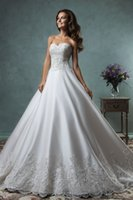 amelia jacket - Amelia Sposa Lace Wedding Dresses Plus Size A Line Sweetheart with Long Sleeves Jackets Bridal Dress Court Train Canty Wedding Gowns