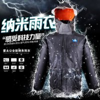 Wholesale riding raincoat rain pants suit thick waterproof split double color raincoat and shipping