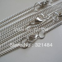 Cheap 200pcs Silver plated metal 80cm Link chain with lobster clasp necklace for pendant