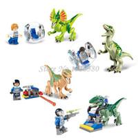Wholesale Jurassic World Jurassic park Movie Building Blocks LELE Sets Model Bricks Toys Educational Brinquedos juguetes educativos