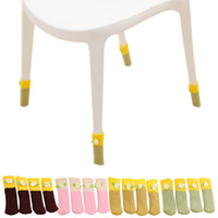 Wholesale Stylish Lovely Chair Legs Table Foot Covers Floor Protectors Floral Kint Cover Hot