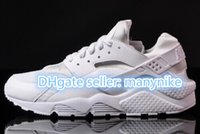 Wholesale PROMOTION ALL WHITE BRAND AIR HUARACHES MEN CASUAL WEDGES SHOE SUPERGA WOMENS SNEAKERS ALPARGATAS MAN RUNNING SHOES size