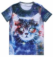 big cat shirts - Mikeal Graphic T shirt for men women d t shirt cotton blends print Big cat number casual galaxy Tshirt tops A97