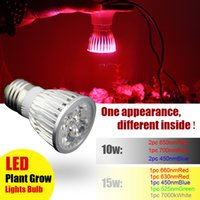 Wholesale 10W W full spectrum Led Grow Light for flowering plant hydroponics system bulb lamp
