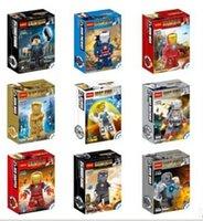 Wholesale new hero Iron Man Building Sets toys Children Assembled puzzle toy building blocks role