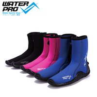 Wholesale Men s Women s Water Pro mm Diving Boots Comfortable Unisex Ankle Rubber Boots YKK Zip for Water Sports Snorkeling Diving