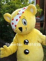 Cheap MASCOT CITY pudsey bear mascot costume custom fancy costume cartoon character anime cosplay mascotte theme fancy dress carnival costume