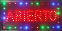 animate catches - Customerized Animated LED ABIERTO SIGN BOARD neon light eye catching slogans SIZE x10 quot