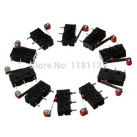 Wholesale 10 x Roller Lever Arm PCB Terminals Micro Limit Normal Close Open Switch KW12 order lt no track