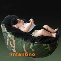 Wholesale CAMOFLAGE WITH BLACK SEAT baby child sofa single sofa washable kids cartoon beanbag chair