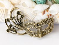 Wholesale 55 cm Mini furniture fittings masquerade mask restores ancient ways of bronze DIY jewelry accessories