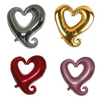 aluminium coat hooks - Big hook heart shaped balloon aluminum membrane size cm g each one YWM1213
