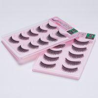Wholesale 2015 set Pairs Fashion Amazing False Eyelashes Chic Design Curling Black Fake Eyelash Eye lashes extension JM A