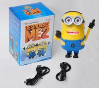 Wholesale Despicable Me Minion Mini Speaker Loudspeaker MP3 TF Card Support USB alto Speakers For iphone plus for samsung S3 S4 S5 laptop