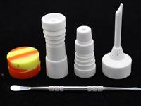 ceramic jar - 14mm mm Male and Female Ceramic Nail Glass Bong Tool Set with Carb Cap Dabber Tool Slicone Jar Dab Container VS Titanium Nail