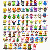 Wholesale 20pcs LOZ building blocks Diamond blocks Ninja turtle The Avengers Super Mario Despicable Me intelligence educational toys D puzzle