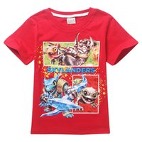 Summer skylanders - kids Clothing Skylanders design boys short sleeve summer cartoon t shirt cotton t shirt top tees colours