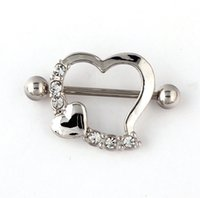 barbell body piercing - 14G Nipple Shield Rings Barbells Body Jewelry Love Heart Nipple Rings Sexy Woman Piercing Nipple Ring Jewelry Piercing Clip On Nipple