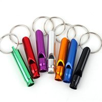 Wholesale Mixed Aluminum Emergency Survival Whistle Keychain For Camping Hiking