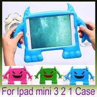 apple smaller ipad - High Quality Small devil EVA Kids Soft Shock Proof Foam Case Silicone Children Tablet Covers For Apple iPad mini