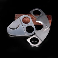 Wholesale Cigar Cutter Stainless Steel High Quality Cigar Scissor Knife Metal Silver Cigar Cutters New by Meow