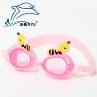 Wholesale 1 Hot goggles crab child swimming goggles cartoon swimming goggles children goggles with earplugs SY4700