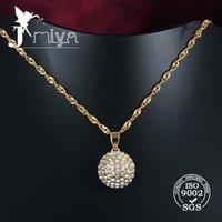 shamballa necklace - crystal ball pendant necklace shamballa design factory price