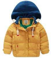 Wholesale Children Girl down jacket boys thick warm white duck down Outwear Korean Slim Kids Down Coat