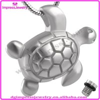 animal hides - IJD8147 Hanging Turtle Stainless Steel Cremation Urn Secret Hidden Stash Pendant Locket Necklaces Memorial Gifts Jewelry