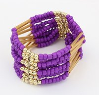 beaded jewelry - 12 Multilayer alloy m bead Charm Bracelet Width Bangle Fashion Gourmette Chain Wristband beaded Jewelry