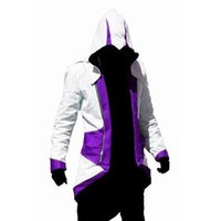 assassin's creed costume kids - Assassins creed jacket Hoodie Conner Kenway costume anime figure assassins creed cosplay costume for man kid carnival assassin s creed