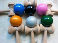 ball paints - DHL EMS CM cm Professional Jumbo Kendama Toy Japanese Traditional Wood Game Kids Toy PU Paint toys kendamas balls