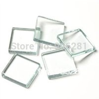 Wholesale 1 Inch Clear Glass Tiles mm Flat Square Glass Tiles Great to Make Pendants with Glue on Bails
