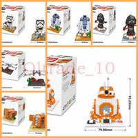 Wholesale 50SET HHA436 Star Wars Toys Building Blocks New Big Size Figures Toys Stormtrooper Dark Warrior Clone Trooper BB Educational Building