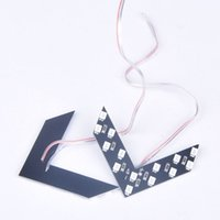 Wholesale 2pcs SMD LED Arrow Panel For Car Rear View Mirror Indicator Turn Signal Light X60QP0049 S1