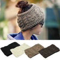 Wholesale Nice Women Knitted Empty Skull Beanie Winter Warm Hat Ski Cap HeadBand for Lady Girl