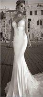 galia lahav wedding dresses - Best Selling Galia Lahav Summer White Lace Bare Back Wedding Dress Beach Bridal Gown Mermaid Sheer Straps Tiers