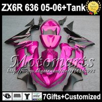 Wholesale 7gifts Tank Cover For KAWASAKI black rose NINJA ZX6R ZX R ZX R M9133 ZX636 black flames Free Customized Fairing Kit