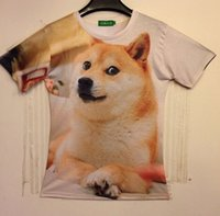 alice clothing - Alice summer clothes Fashion women men galaxy shibe doge dogecoin print short sleeve novely dog d t shirt size M L XL XXL