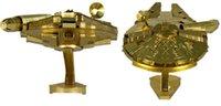 Wholesale 5pcs Fascinations Metal Earth Star Wars Millenium Falcon Model Metal Iron silver spaceship Building Sets
