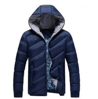 Wholesale Men Winter Coat Men wadded Jacket winter cotton padded jacket cotton parka coat hoodies overcoat coats brand design fashion jacket D1201
