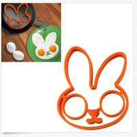 Wholesale New Design Rabbit Eg g Shaper Silicone Moulds Ring Orange Silicone Mold DIY Cooking Kitchen Gadgets Tools