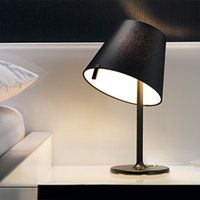 Wholesale Hot Selling Melampo tavolo notte MINI Table in Black White Light Bed Side Desk Lamp Designed By Adrien Gardere