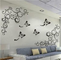 Wholesale Butterfly Feifei Wisteria Vine Flower Art Wall Decal Stickers Livingroom Decor