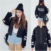 Cheap Korean Stylenanda KKXX Peach Heart Padded Zipper Embroidery Letter Thick Cotton Warm Jacket Winter Harajuku style Coat